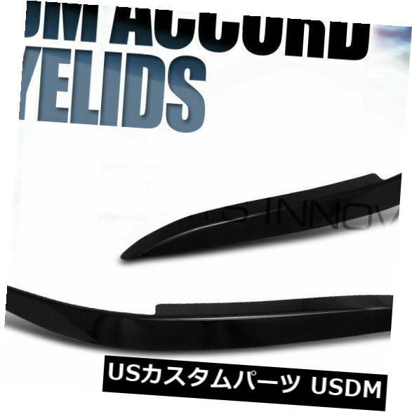 98-02ホンダアコードブラックABSヘッドライトカバー眉毛まぶたアイリッドブロウ用 For アイライン Eyebrows ABS Lid Black Eye Accord 98-02 Honda Headlight Brow Eyelid Cover