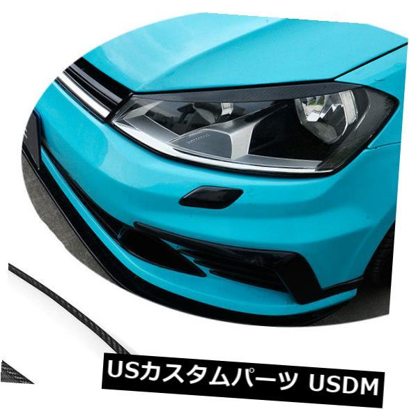 アイライン フォルクスワーゲンVWゴルフ7 MK7 GTI R 14-18のペアカーボンヘッドライト眉毛まぶた Pair Carbon Headlight Eyebrow Eyelid For Volkswagen VW Golf 7 MK7 GTI R 14-18