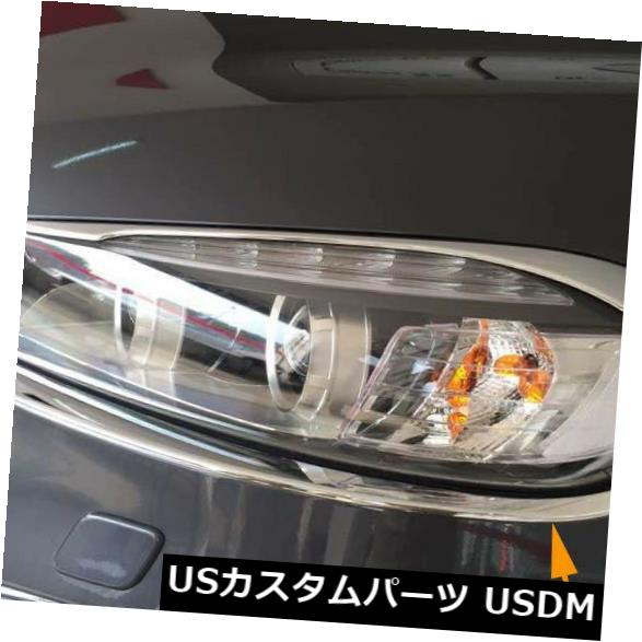 アイライン Kia Sorento 2015の新しいクロームメッキ4PCSフロントヘッドライトランプボトムアイリッドトリム Chromed 4PCS Front Head Light lamp Bottom Eyelid Trim New For Kia Sorento 2015