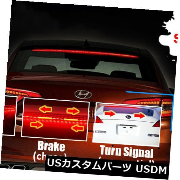 ハイマウントテール 1x赤色LEDリアウィンドシールドハイマウント3番目4番目ブレーキテールシーケンシャルストリップライト 1x Red LED Rear Windshield High Mount 3rd 4th Brake Tail Sequential Strip Lights