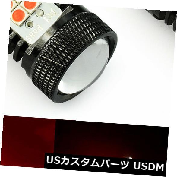 ハイマウントテール JDM ASTAR 2x 1156 BA15S 1600LM LEDテールブレーキストップ電球レッドプロジェクターレンズ JDM ASTAR 2x 1156 BA15S 1600LM LED Tail Brake Stop Light Bulb Red Projector Lens