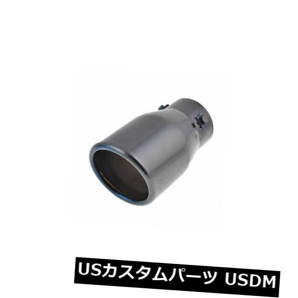 Car 63mm Inlet Dia Exhaust Muffler Tip Black