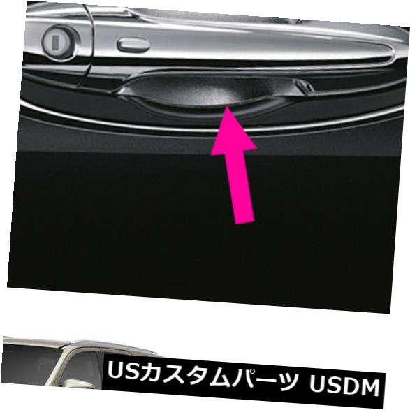 ドア部分カバー スポーツドアハンドルボウルカバー本物のクロムブラックはトヨタフォーチュナー2015 2018に適合 Sport Door Handle Bowl Cover Genuine Chrome Black Fits Toyota Fortuner 2015 2018