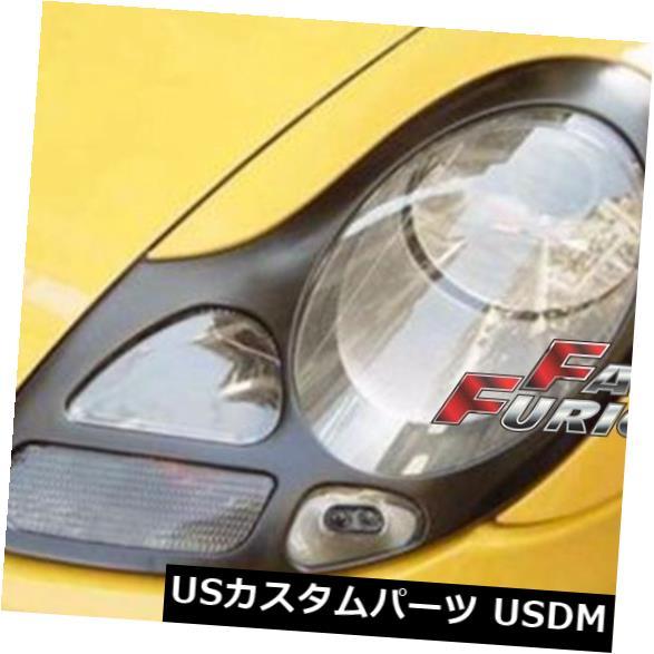 エアロ ポルシェ996 911ボクスター986ヘッドライトカバーEYELIDS TRIMS 1ペアに適合 Fit for PORSCHE 996 911 BOXSTER 986 HEADLIGHTS COVERS EYELIDS TRIMS 1 pair
