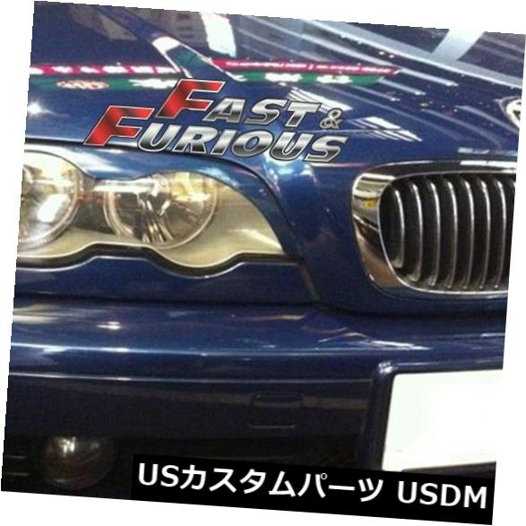 エアロ 2002-2005 E46 320i 323i 330i 325i SEDAN 4DヘッドライトEYEBROWS EYELIDSに適合 Fit for 2002-2005 E46 320i 323i 330i 325i SEDAN 4D HEADLIGHTS EYEBROWS EYELIDS