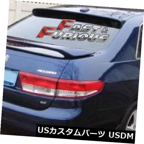 エアロ 2003- 2007年ホンダアコードセダンJDMリアウィングウィンドウルーフスポイラー FOR 2003-2007 Honda Accord SEDAN JDM REAR WING WINDOW ROOF SPOILER