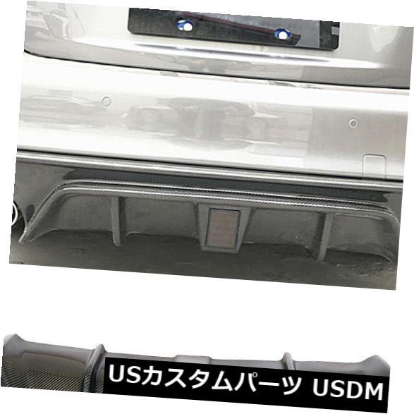 カーボン素材 Infiniti Q50 18-19のための導かれた適合のカーボン繊維の後部豊富な拡散器のボディキット Carbon Fiber Rear Bumper Diffuser Bodykit With Led Fit For Infiniti Q50 18-19