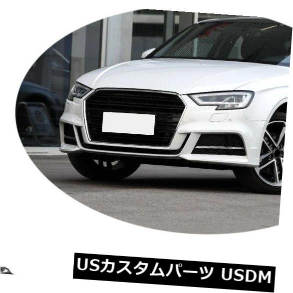 カーボン素材 カーボンアウディA3 Sライン/ S3セダン17-19のフロントバンパーリップスプリッター Carbon Fiber Front Bumper Lip Splitter Refit For Audi A3 Sline/ S3 Sedan 17-19