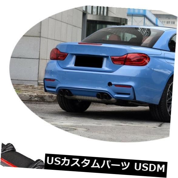 カーボン素材 BMW F80 M3 F82 F83 M4 14-19のための赤のカーボン繊維の後部豊富な拡散器の唇 Carbon Fiber Rear Bumper Diffuser Lip With Red For BMW F80 M3 F82 F83 M4 14-19