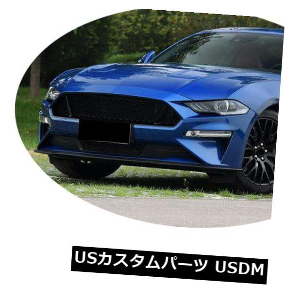 カーボン素材 フォードマスタング18-19カーボンファイバーフロントバンパーリップスポイラーボディキット工場に適合 Fit for Ford Mustang 18-19 Carbon Fiber Front Bumper Lip Spoiler Bodykit Factory