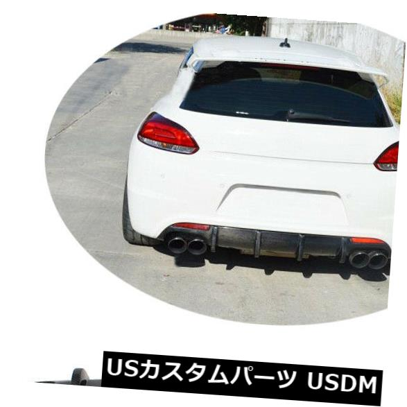 カーボン素材 フォルクスワーゲンVWシロッコR 09-14のためのカーボン繊維のリヤバンパーの拡散器の唇の適合 Carbon Fiber Rear Bumper Diffuser Lip Fit For Volkswagen VW Scirocco R 09-14