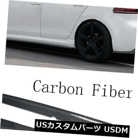 カーボン素材 フォルクスワーゲンゴルフVI MK6 R20 10-13にフィットする自動サイドスカートボディキットカーボンファイバー Auto Side Skirts Bodykits Carbon Fiber Fit for Volkswagen Golf VI MK6 R20 10-13