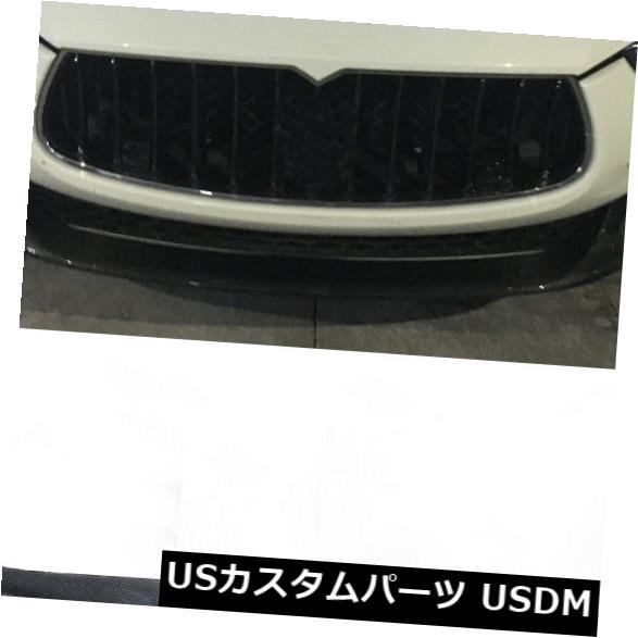 カーボン素材 マセラティジブリ4ドアフロントバンパーリップボディキットスポイラーカーボンファイバーに適合2014-17 Fits Maserati Ghibli 4Door Front Bmuper Lip Bodykit Spoiler Carbon Fiber 2014-17
