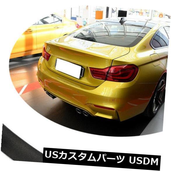カーボン素材 カーボンファイバーリアハイキックトランクリッドスポイラーウィングフィット2015-2017 BMW F82 M4 Carbon Fiber Rear High Kick Trunk Lid Spoiler Wing Fit For 2015-2017 BMW F82 M4