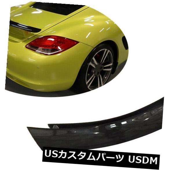 カーボン素材 ポルシェ987ケイマン2005-2012のリアトランクスポイラーボディキット翼炭素繊維 Rear Trunk Spoiler Bodykit Wing Carbon Fiber For Porsche 987 Cayman 2005-2012