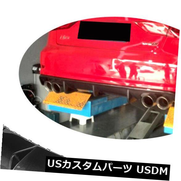 カーボン素材 カーボンファイバーリアバンパーディフューザーオートレーシングリップフィットアウディS3セダン13-16 Carbon Fiber Rear Bumper Diffuser Auto Racing Lip Fit for Audi S3 Sedan 13-16