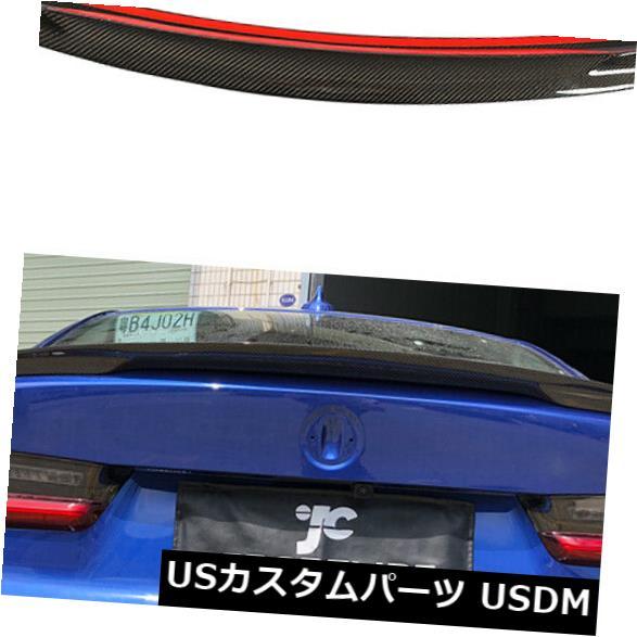 カーボン素材 2019UP BMW G20 330i M340i用リアトランクスポイラーブーツウィングカーボンファイバー Rear Trunk Spoiler Boot Wing Carbon Fiber Refit For 2019UP BMW G20 330i M340i