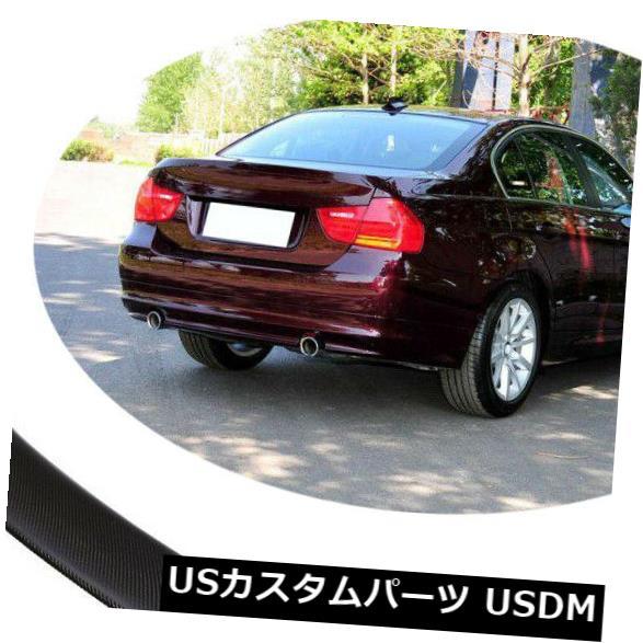 カーボン素材 06-12 BMW E92 325i 335i 328i用カーボンファイバーリアトランクスポイラーテールリッドウィング Carbon Fiber Rear Trunk Spoiler Tail Lid Wing For 06-12 BMW E92 325i 335i 328i
