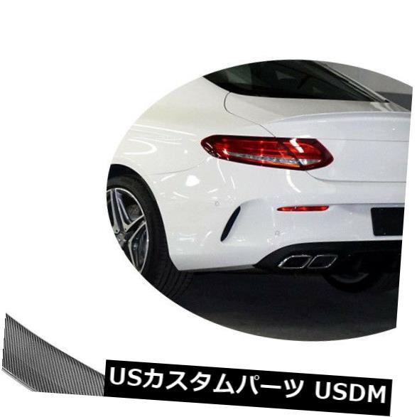 カーボン素材 カーボン製メルセデス・ベンツC205 C63 AMG 15-17用リアトランクスポイラーウィング Carbon Fiber Rear Trunk Spoiler Wing Fit For Mercedes-Benz C205 C63 AMG 15-17