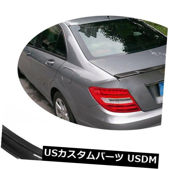 カーボン素材 カーボンメルセデスベンツW204 C250 C300 C63のハイキックトランクスポイラー翼 Carbon Fiber High kick Trunk Spoiler Wing For Mercedes Benz W204 C250 C300 C63