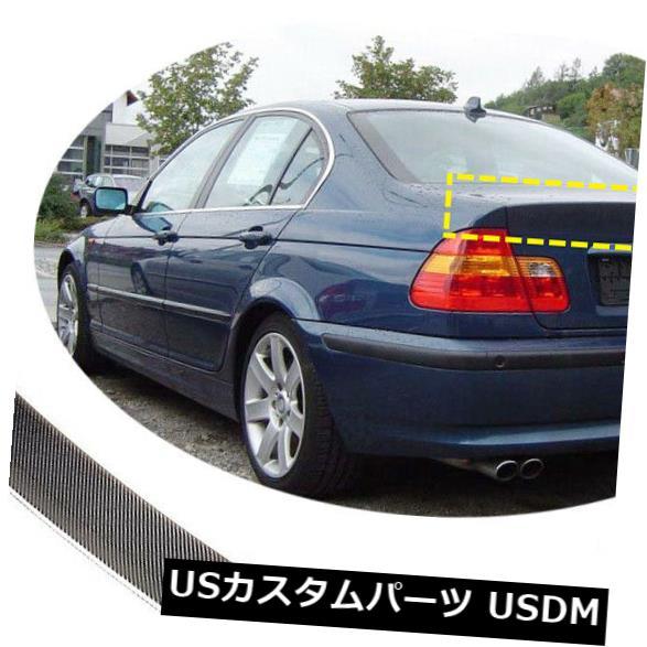 カーボン素材 BMW E46 320i 325iセダン98-05用カーボンファイバーリアトランクスポイラーテールリッドウィング Carbon Fiber Rear Trunk Spoiler Tail Lid Wing For BMW E46 320i 325i Sedan 98-05
