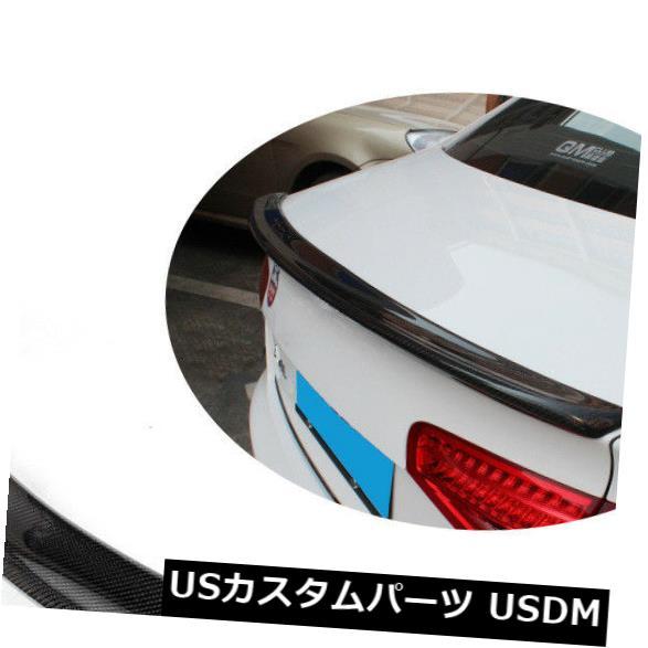 カーボン素材 アウディA4 B8 09-15に合うカーボンファイバーリアチューニングブーツスポイラートランクウイングリップ Carbon Fiber Rear Tuning Boot Spoiler Trunk Wing Lip Fit for Audi A4 B8 09-15