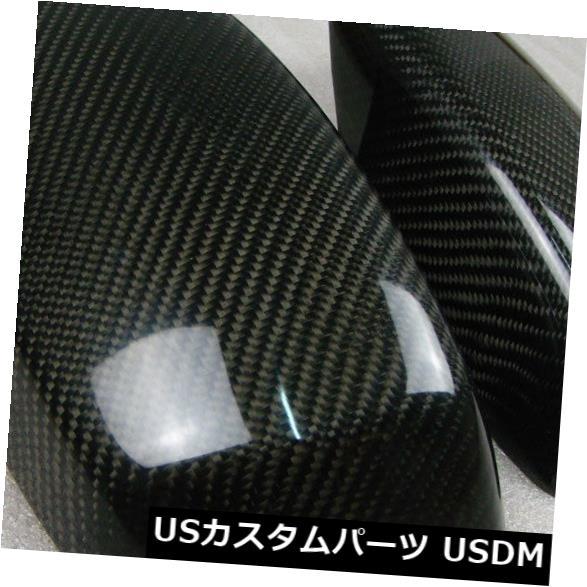 カーボン素材 BMW E60 5シリーズ550i 2005-2008に適合したカーボンファイバーミラーカバーキャップトリム2PCS Carbon Fiber Mirror Cover Cap Trim 2PCS Fit for BMW E60 5 Series 550i 2005-2008