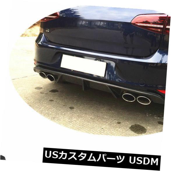 カーボン素材 VW GOLF 7 VII MK7 R R-LINE 14-16に適合したカーボンファイバーリアバンパーディフューザーリフィット Carbon Fiber Rear Bumper Diffuser Refit Fit for VW GOLF 7 VII MK7 R R-LINE 14-16