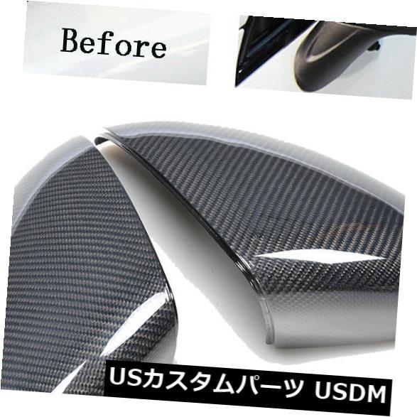 カーボン素材 交換用カーボンファイバーミラーは、ポルシェカイエン958 11-14に適したキャップをカバーしています Replacement Carbon Fiber Mirror Covers Cap Fit for Porsche Cayenne 958 11-14