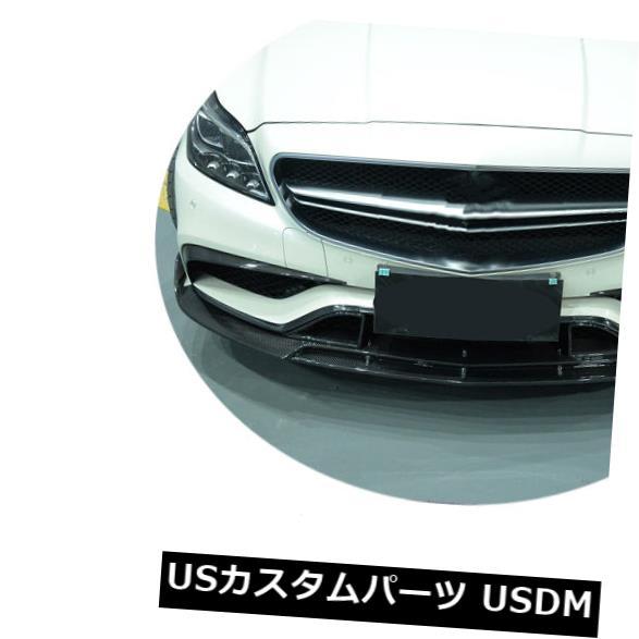 カーボン素材 ベンツW218 CLS63AMG 15-17 3PCS用カーボンファイバーフロントバンパーリップスプリッタスポイラー Carbon Fiber Front Bumper Lip Splitter Spoiler for Benz W218 CLS63AMG 15-17 3PCS