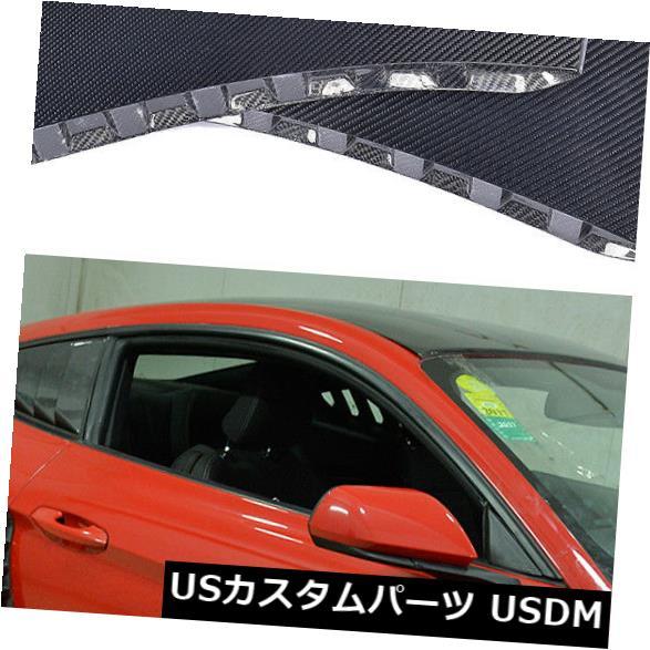 カーボン素材 カーボンファイバーリアフェンダーパネルドアサイドスクープフードはフォードマスタング15-17に適合 Carbon Fiber Rear Fender Panel Door Side Scoops Hood Fit for Ford Mustang 15-17