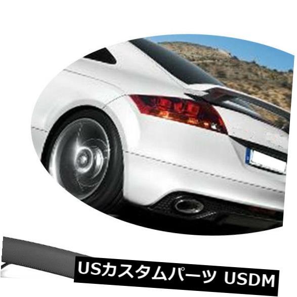 カーボン素材 アウディMk2 TT 8J TTS 2ドア08-14用のカーボンファイバーリアトランクスポイラーウィングフィット Carbon Fiber Rear Trunk Spoiler Wing Fit for Audi Mk2 TT 8J TTS 2-Door 08-14