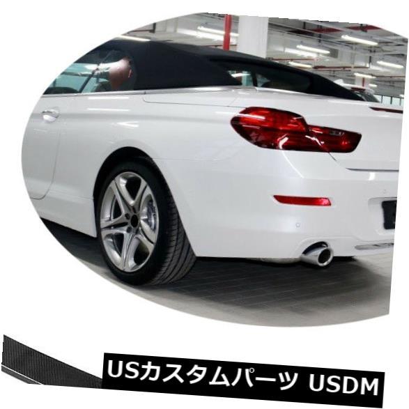 カーボン素材 BMW 6シリーズ640i 650iコンバーチブル13-18用カーボンファイバートランクスポイラーウィング Carbon Fiber Rear Trunk Spoiler Wing for BMW 6Series 640i 650i Convertible 13-18