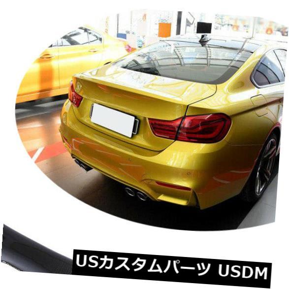 カーボン素材 BMW F82 M4クーペ14-19リフィットカーボンファイバー用リアトランクスポイラーオートバックウィング Rear Trunk Spoiler Auto Back Wing For BMW F82 M4 Coupe 14-19 Refit Carbon Fiber