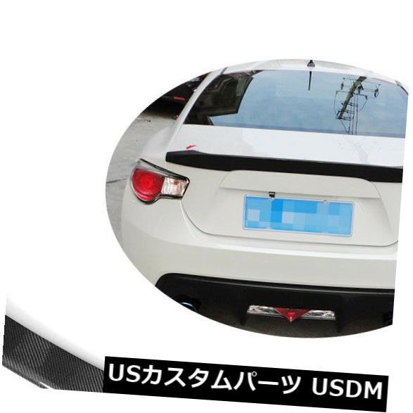 カーボン素材 トヨタGT86 12-17スバルBRZ 13-17リアトランクスポイラーリップウイングカーボンファイバーに適合 Fits Toyota GT86 12-17 Subaru BRZ 13-17 Rear Trunk Spoiler Lip Wing Carbon Fiber