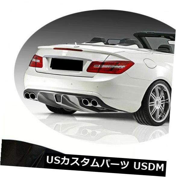 カーボン素材 メルセデスベンツW207 E63 AMGカーボンファイバー09-12のリアバンパーディフューザーリップフィット Rear Bumper Diffuser Lip Fit for Mercedes Benz W207 E63 AMG Carbon Fiber 09-12