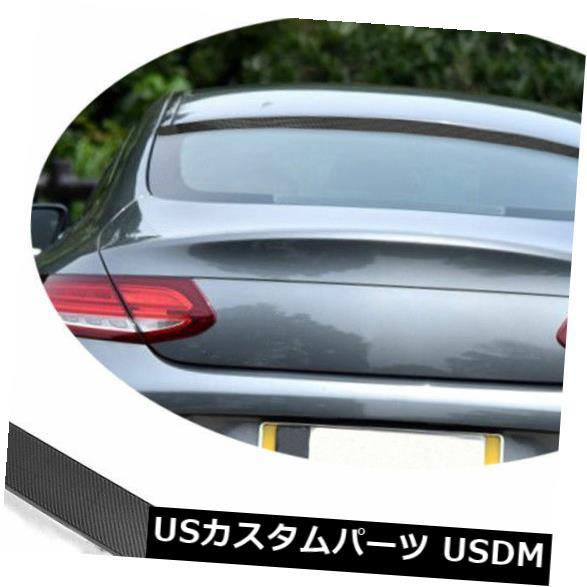 カーボン素材 カーボン製メルセデスベンツC205 C63 C43 15-17のリアルーフスポイラーテールウイング Carbon Fiber Rear Roof Spoiler Tail Wing For Mercedes Benz C205 C63 C43 15-17