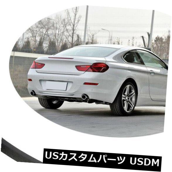 カーボン素材 BMW 6シリーズF06 F13 640i 650iリアブーツスポイラーウィングカーボンファイバー2012-2018 For BMW 6Series F06 F13 640i 650i Rear Boot Spoiler Wing Carbon Fiber 2012-2018
