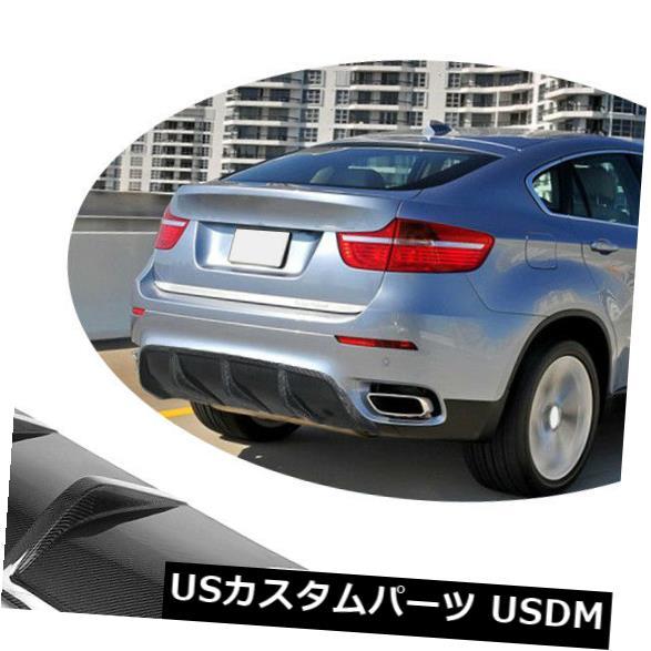 カーボン素材 BMW X6 E71 2008-2014のために合うカーボン繊維の後部豊富な拡散器の自動唇の工場 Carbon Fiber Rear Bumper Diffuser Auto Lips Factory Fit For BMW X6 E71 2008-2014