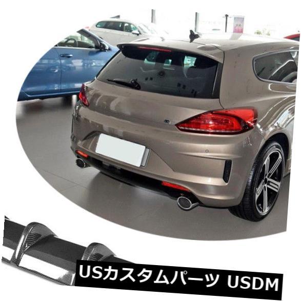 カーボン素材 フォルクスワーゲンシロッコR 15-18のためのカーボン繊維のリヤバンパーの拡散器の唇のクォードの先端 Carbon Fiber Rear Bumper Diffuser Lip Quad Tips For Volkswagen Scirocco R 15-18