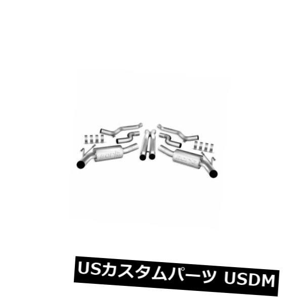輸入マフラー Borla 140378-ATAKステンレスデュアルキャットバックエキゾーストシステム Borla 140378 - ATAK Stainless Steel Dual Cat-Back Exhaust System
