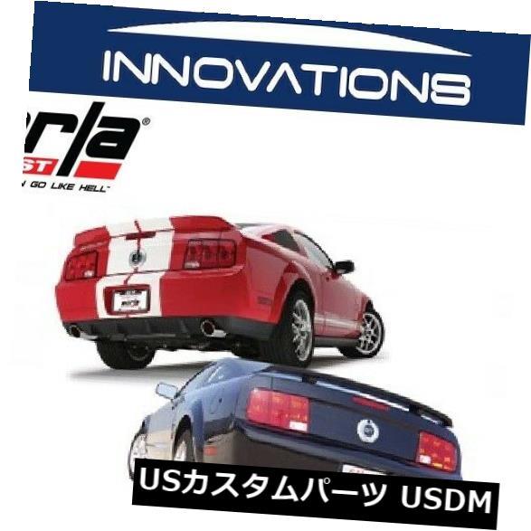 輸入マフラー 05-09マスタングGTシェルビーGT 4.6L V8-140135用Borla Cat-Back Exhaust S-Type Borla Cat-Back Exhaust S-Type For 05-09 Mustang GT Shelby GT 4.6L V8 - 140135