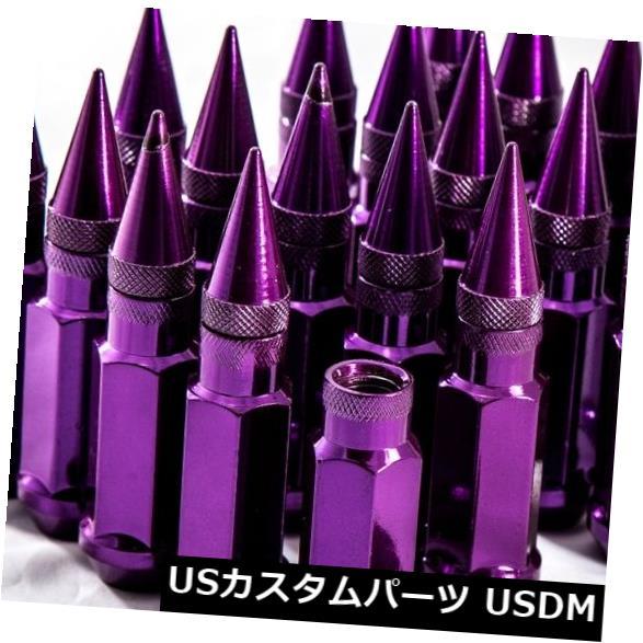 92mm AodHan XT92 12X1.25 Steel Black Spiked Lug Nuts Fits Subaru Wrx Sti