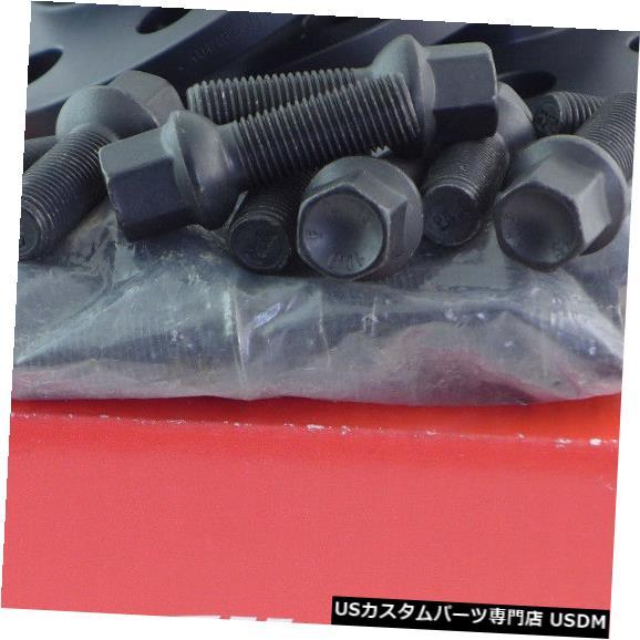 ワイドトレッドスペーサー Eibachホイールスペーサーフロントアクスル+リア16 / 20mm Lk:112/5 Mz:66,45ブラック+ボルト Eibach Wheel Spacer Front Axle + Rear 16/20mm Lk: 112/5 Mz : 66,45 Black + Bolt