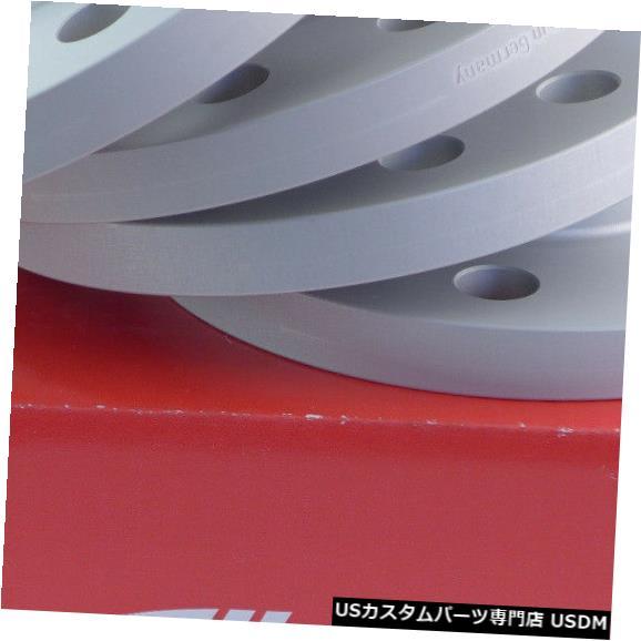 ワイドトレッドスペーサー Eibachホイールスペーサーフロントアクスル+リアABE 16 / 30mm Lk:112/5 Mz:66,45mmシルバー Eibach Wheel Spacer Front Axle + Rear ABE 16/30mm Lk: 112/5 Mz : 66,45mm Silver