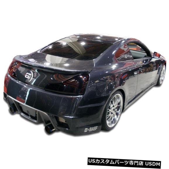 Rear Body Kit Bumper 08-15 Infiniti G Coupe 2DR GT Concept Duraflexリアボディキットバンパー104677に適合 08-15 Fits Infiniti G Coupe 2DR GT Concept Duraflex Rear Body Kit Bumper 104677