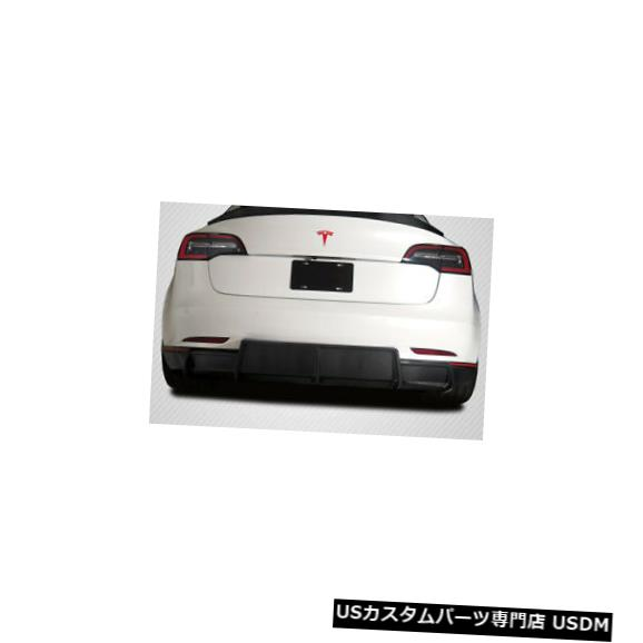 Rear Body Kit Bumper 18-20テスラモデル3 GTコンセプトカーボンファイバーリアバンパーディフューザーボディキット115468 18-20 Tesla Model 3 GT Concept Carbon Fiber Rear Bumper Diffuser Body Kit 115468