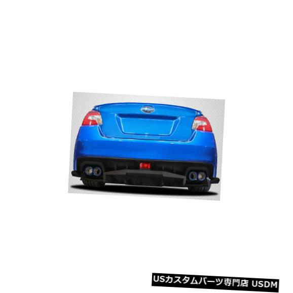 Rear Body Kit Bumper 15-18スバルWRX VRSカーボンファイバークリエーションズリアバンパーリップボディキット113472に適合 15-18 Fits Subaru WRX VRS Carbon Fiber Creations Rear Bumper Lip Body Kit 113472