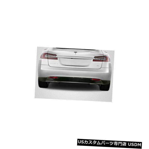 Rear Body Kit Bumper 12-16テスラモデルSユーテックカーボンファイバークリエーションズリアバンパーリップボディキット113555 12-16 Tesla Model S Utech Carbon Fiber Creations Rear Bumper Lip Body Kit 113555