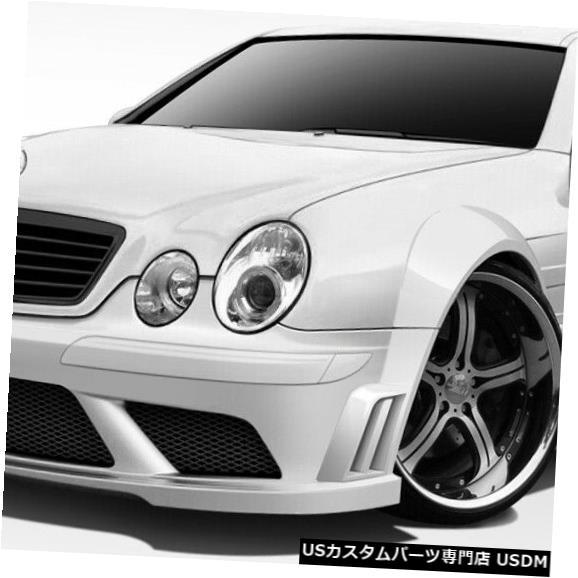 Full Body Kit 98-02メルセデスCLKブラックシリーズルックDuraflex 8個フルワイドボディキット!!! 112562 98-02 Mercedes CLK Black Series Look Duraflex 8 Pcs Full Wide Body Kit!!! 112562